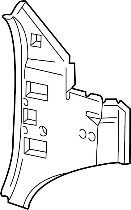 Ford E-150 Econoline Club Wagon Cowl Side Panel. PASSENGER