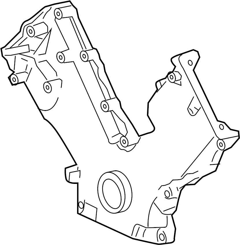 Ford F-250 Super Duty Engine Timing Cover. LITER, BEARINGS