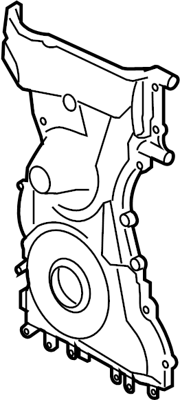 Ford Ranger Engine Timing Cover (Front). 2.3 LITER. Ranger