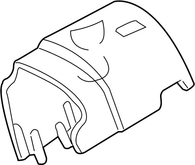 Ford Explorer Sport Steering Column Cover. Manual, Trans