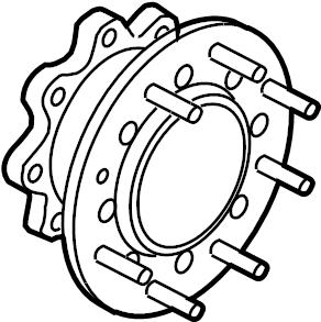 Ford F-450 Super Duty Wheel Hub Extension. 2WD, MONOBEAM