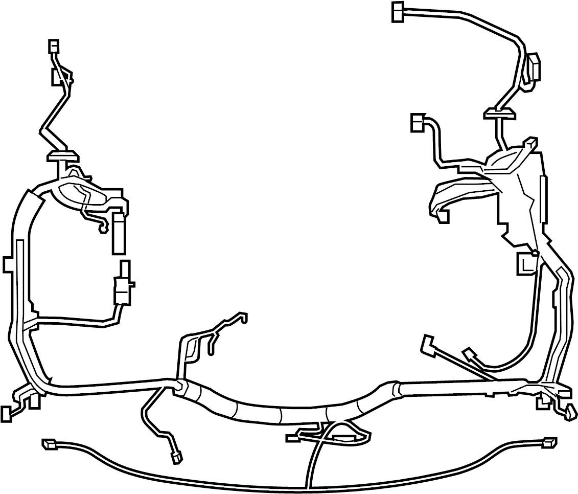 Ford F-250 Super Duty Engine Wiring Harness. ENGINE