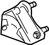 Ford F-250 Super Duty Steering Damper Bracket. F250, F350