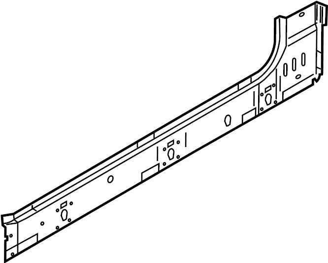 Ford F-350 Super Duty Rocker Panel. CREW CAB. Left, Inner