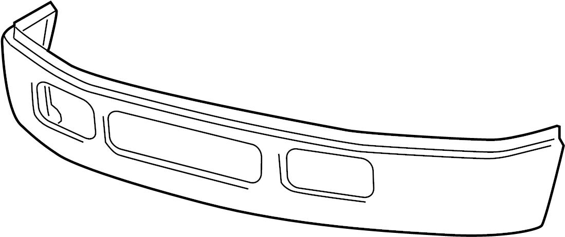 Ford F-450 Super Duty Bumper Face Bar. 2005-07, F450, F550