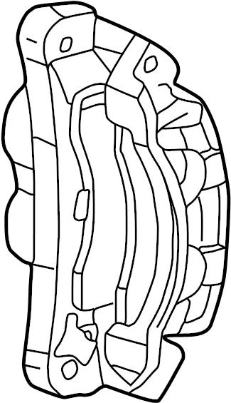 Ford F-550 Super Duty Disc Brake Caliper. Right