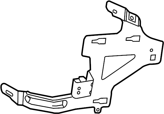 Ford Taurus Junction Block Bracket. Passenger comp. Mount