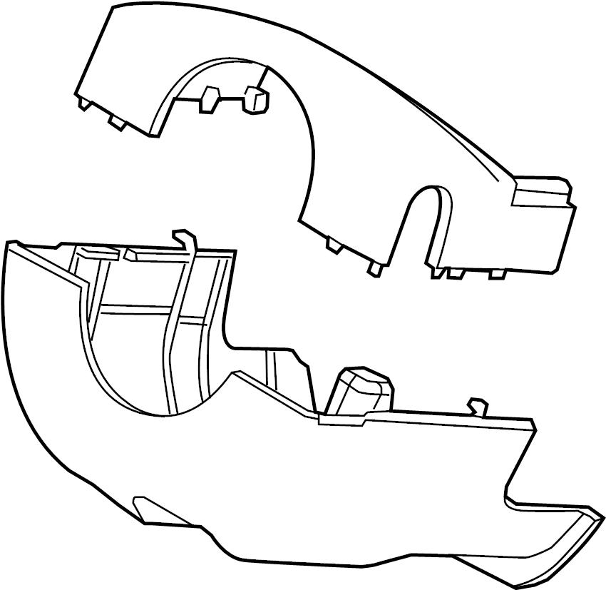 Ford Explorer Steering Column Cover. 2013-15, W/TILT ONLY
