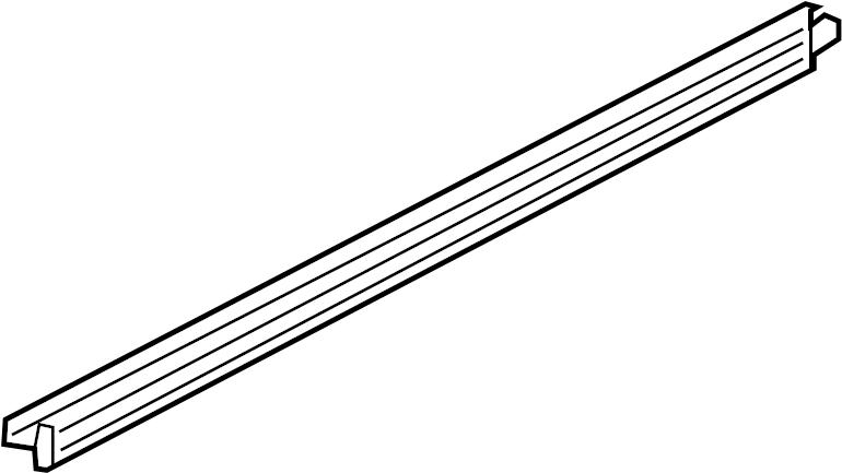Ford Explorer Door Window Belt Weatherstrip. Left, FRONT
