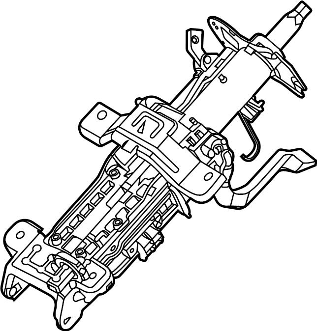 Ford Explorer Steering Column. MANUAL TILT/SLIDE. Assy