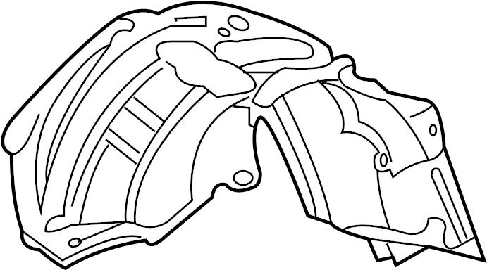 Ford F-450 Super Duty Fender Splash Shield (Front, Lower