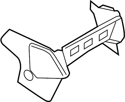 Ford Transit-250 Instrument Panel Knee Bolster. LOWER
