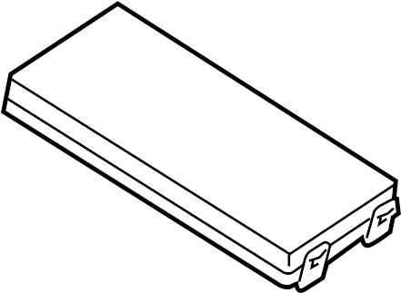Ford Escape Fuse Box Cover (Front, Upper). ENGINE