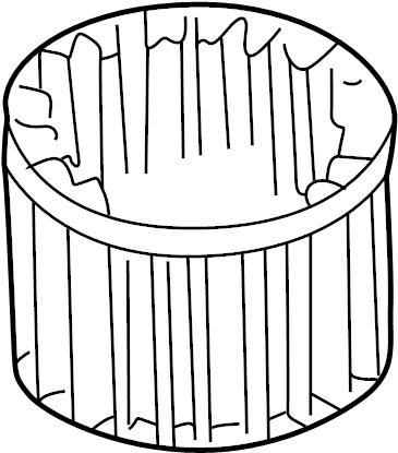 Mercury Villager Hvac blower motor wheel. Fan, zone, dual