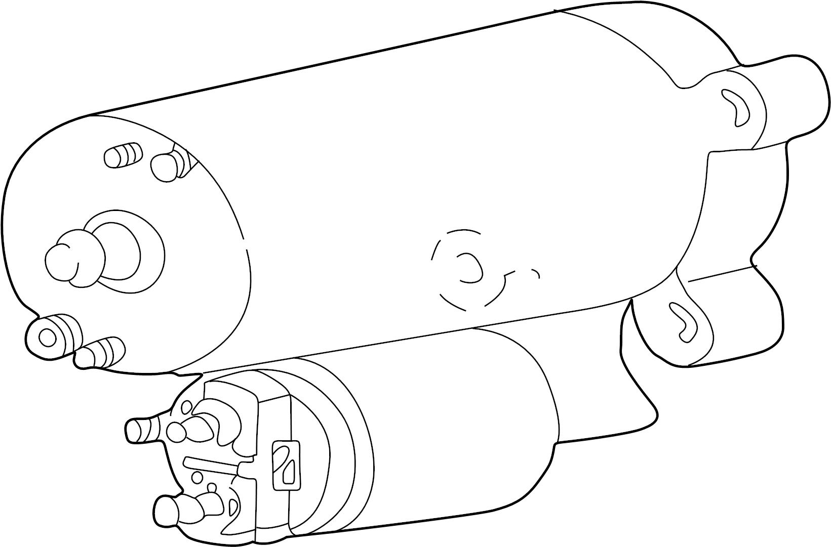 Ford Contour Starter Motor. Auto, Trans, Liter