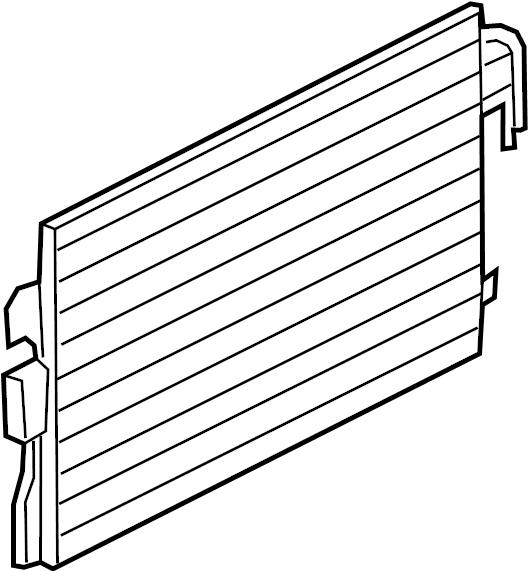 Mercury Mariner A/c condenser. Liter, trans, manual
