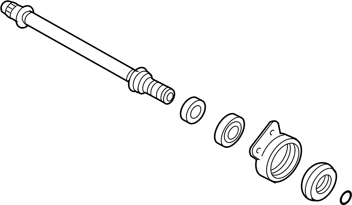 Ford Escape Cv intermediate shaft. Trans, manual, axle