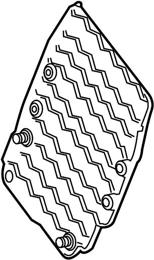 Ford Escape Engine Control Module Cover. LITER, MOTOR