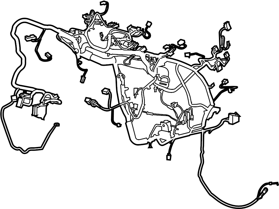 Ford Escape Instrument Panel Wiring Harness. Wire harness