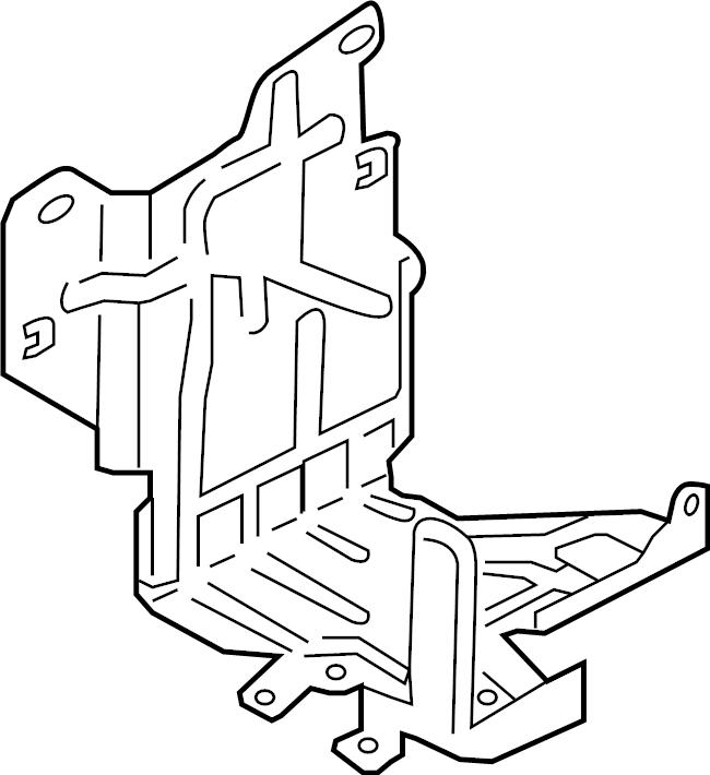 Ford F-350 Super Duty Fuse and Relay Center Bracket. Fuse