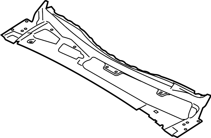 Ford F-150 Cowl Grille Panel. CREW CAB. REGULAR CAB. SUPER