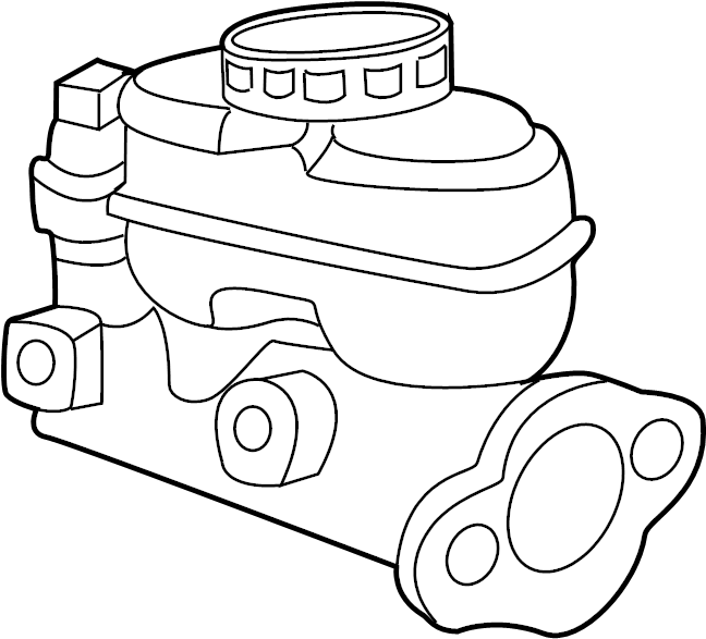 Mercury Mariner Brake Master Cylinder. Brakes, Drum, Leak