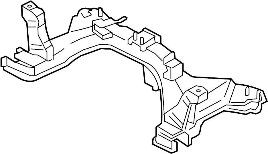 Mercury Mariner Engine Cradle. Escape, Mariner. SUSPENSION