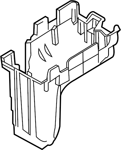 Lincoln MKX Bracket. Bottom panel mount. Fuse Box