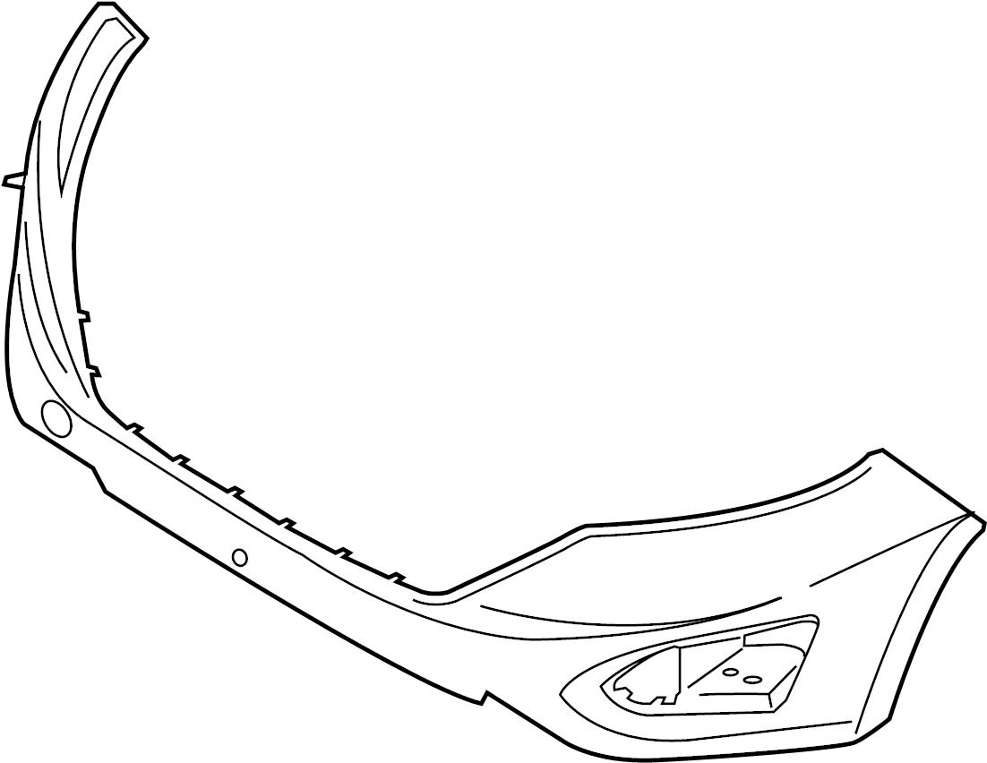 Ford Edge Bumper Cover (Upper). 2015-18, w/auto park, w