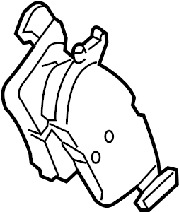Lincoln MKZ Disc Brake Pad Set. AWD, Pads, Brakes