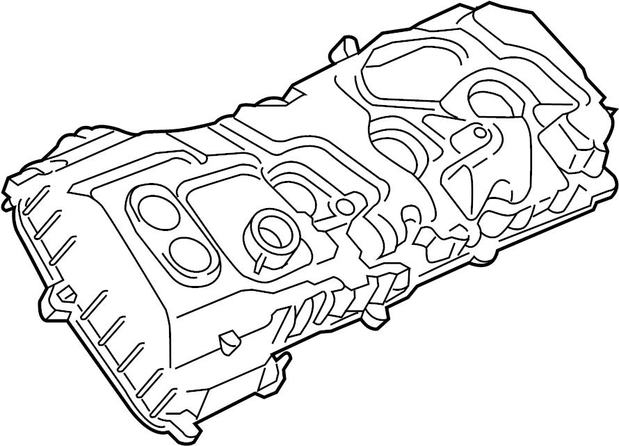 Lincoln Navigator Engine Valve Cover. Left, LITER, WTURBO