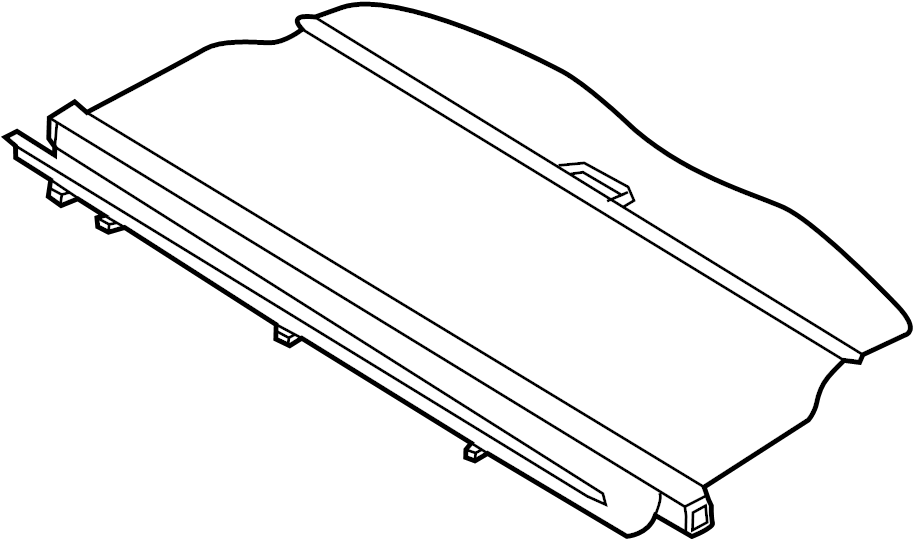 Lincoln MKX Cargo Cover (Rear, Upper). Ebony