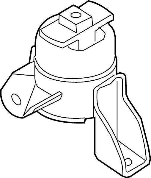 Mercury Milan Engine Mount. Trans, Manual, BEARINGS