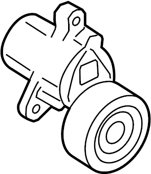 Ford Focus Accessory Drive Belt Tensioner Assembly