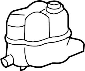 Mercury Mountaineer Engine Coolant Reservoir. Tank, LITER