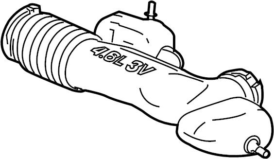 Mercury Mountaineer Engine Air Intake Hose. 4.6 LITER. 4.6