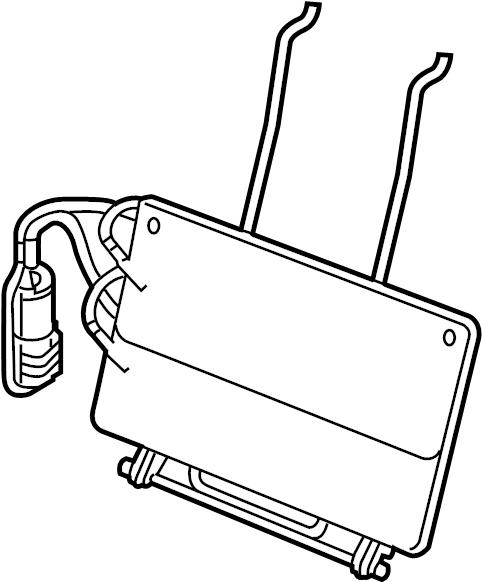 Ford F-250 Super Duty Seat Lumbar Support Cushion. BUCKET
