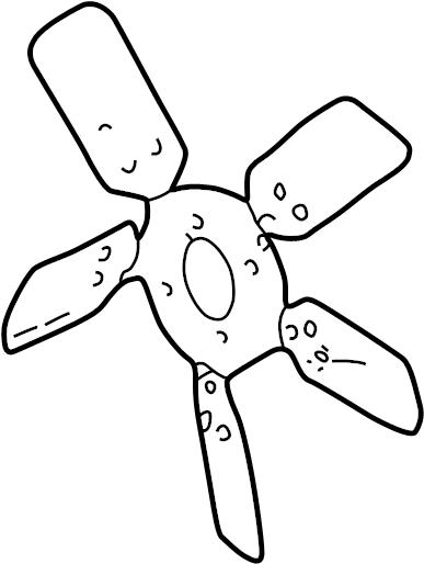 Ford Ranger Engine Cooling Fan Clutch Blade. WAC, LITER
