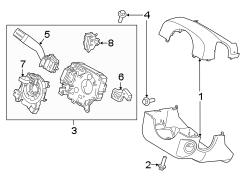 Lincoln Navigator Steering Column. F150; Power Tilt; w/o