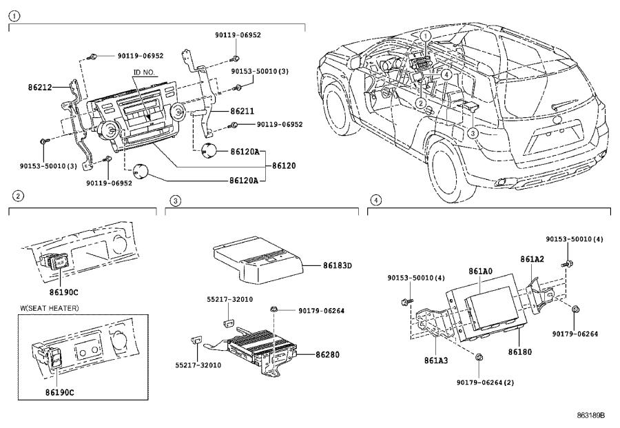 2010 Toyota Audio Auxiliary Jack. CONDENSER, Electrical