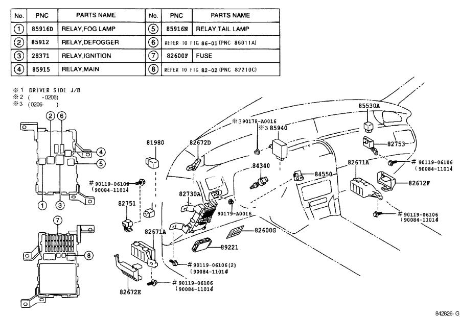 Toyota Avalon Relay assembly, windshield wiper. Electrical