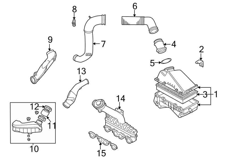 Volkswagen Beetle Engine Air Intake Hose Adapter. 2004-06