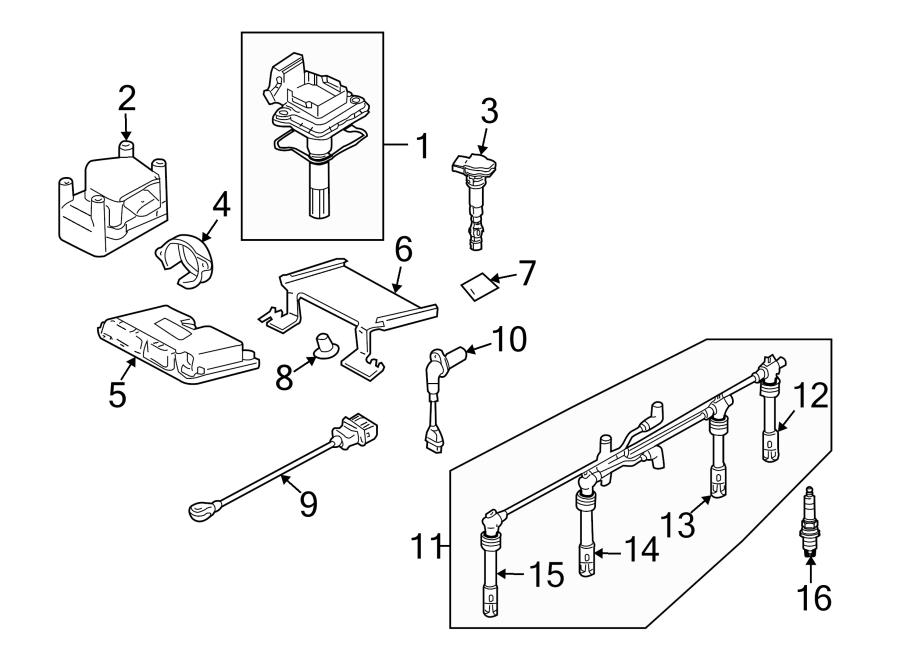 Volkswagen Beetle Engine Control Module. Convertible, 2.0