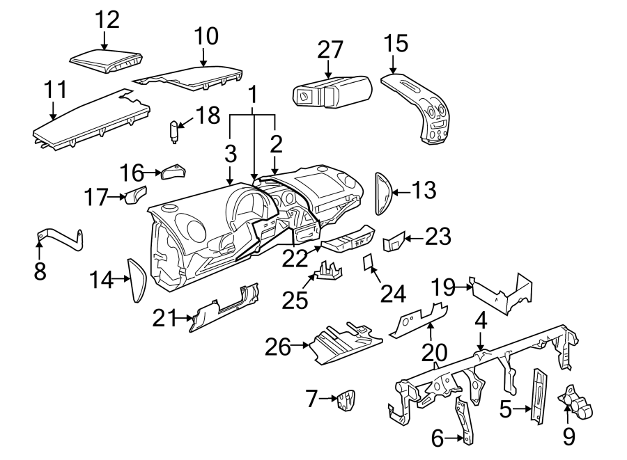 Volkswagen Beetle Convertible Instrument Panel Cover