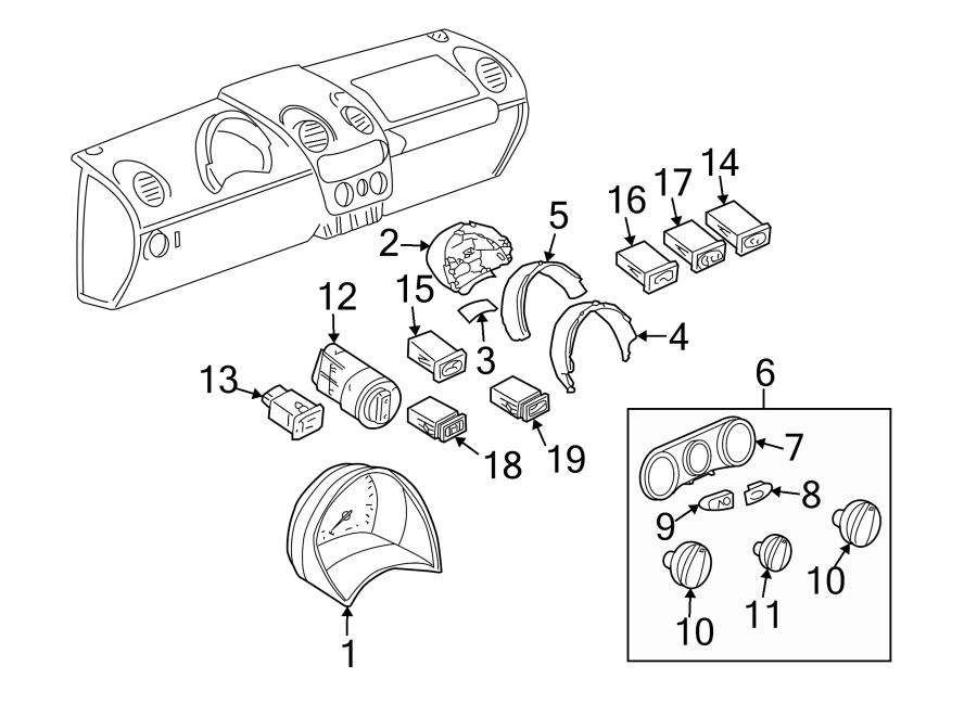 Volkswagen Beetle Convertible Window Defroster Switch