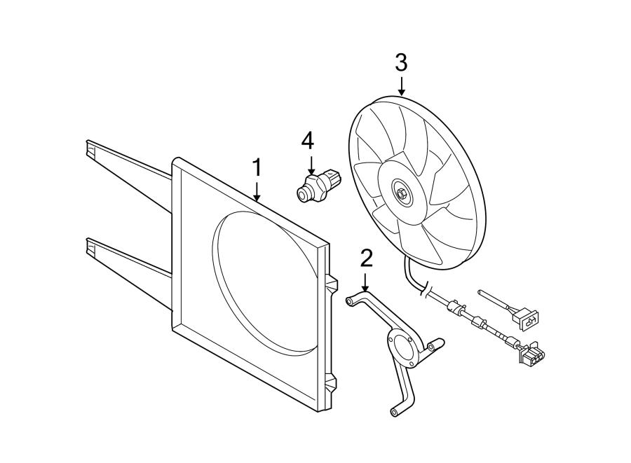 Volkswagen Beetle Convertible Engine Cooling Fan Shroud