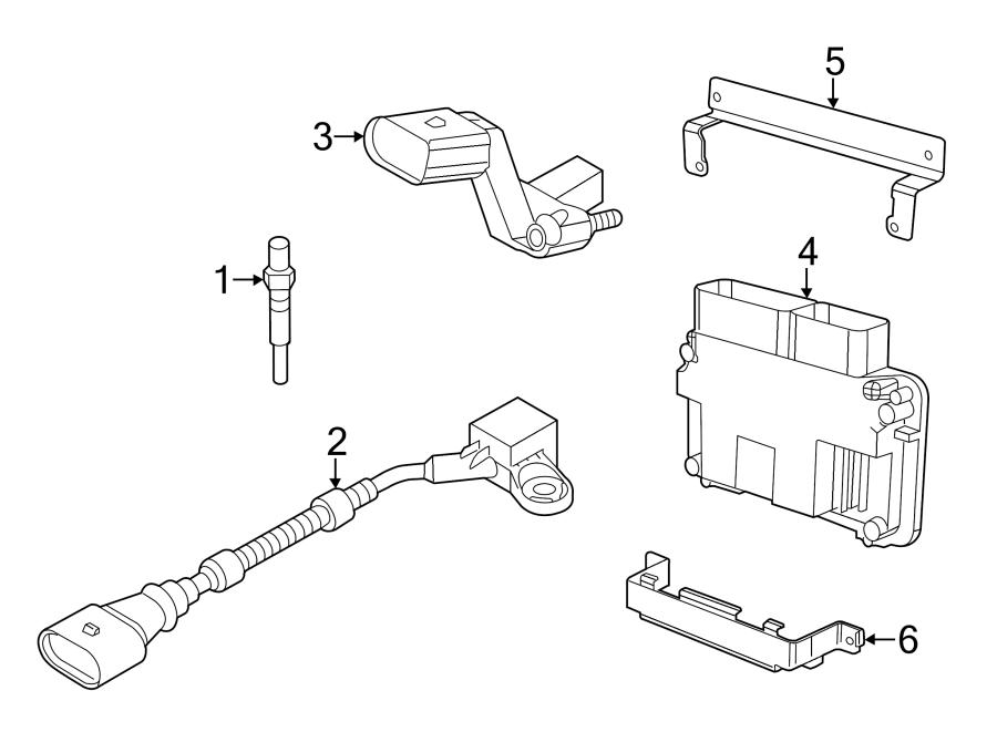Volkswagen Beetle Engine Control Module. 2.0 LITER, DIESEL