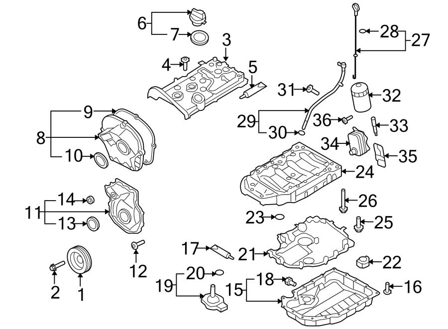 Volkswagen Beetle Engine Oil Pan Baffle Gasket. Engine Oil