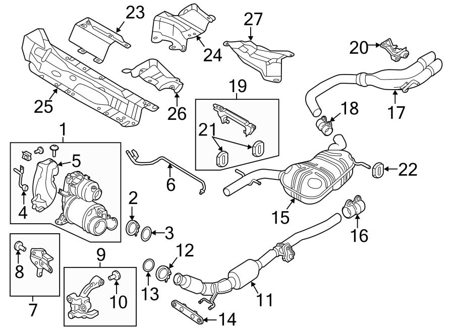 Volkswagen Jetta Exhaust Muffler. 2015. SYSTEM, Group