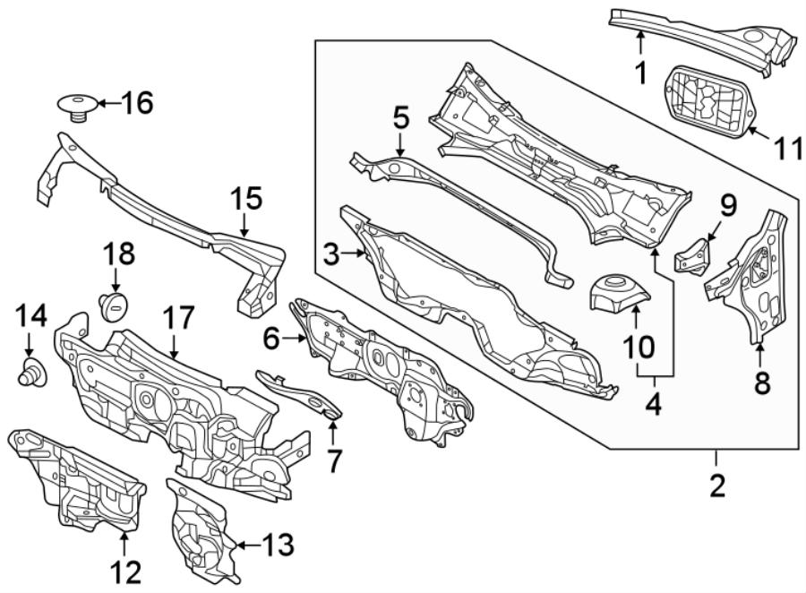 Volkswagen Beetle Insulator. Clip. CONVERTIBLE